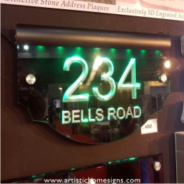 2012 HomeDec@KLCC LED Edge Lit Acrylic House Numbers