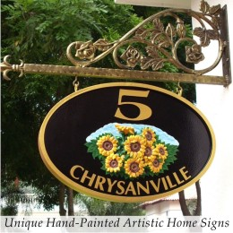 Unique Hand Painted Artistic Home Signs