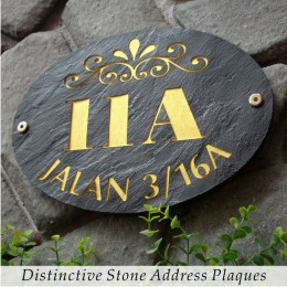 Distinctive Stone Address Plaque
