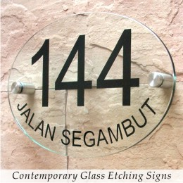 Comtemporary Glass Etching Signs