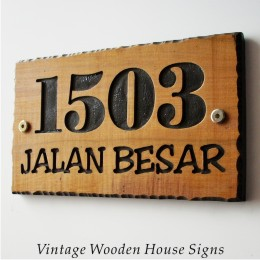 Vintage Wooden House Signs